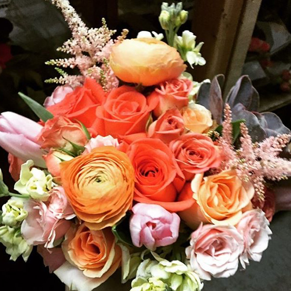 Bee Inspired Events - Sunny orange bridal bouquet