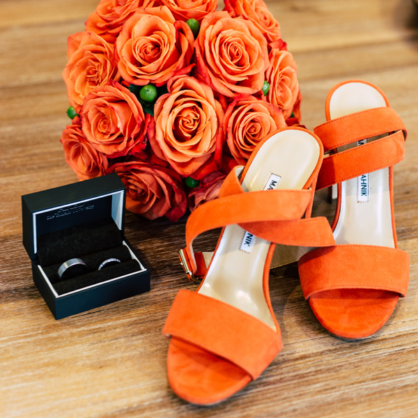 Bee Inspired Events - Orange crush roses bridal bouquet