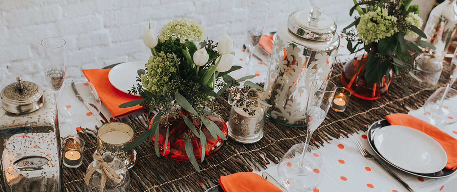 Bee Inspired Events - Orange theme tablescape
