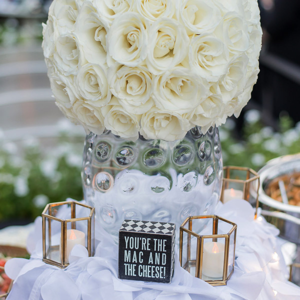 Bee Inspired Events - Beautiful white roses ball