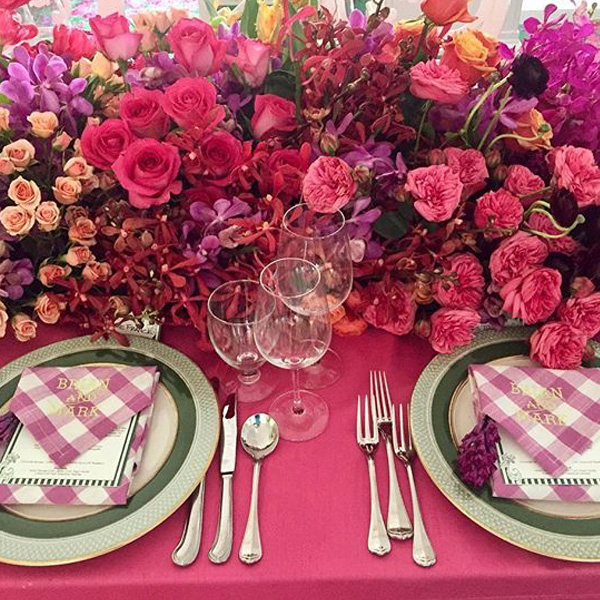 Bee Inspired Events - Sweetheart table floral runner at the Greenbrier