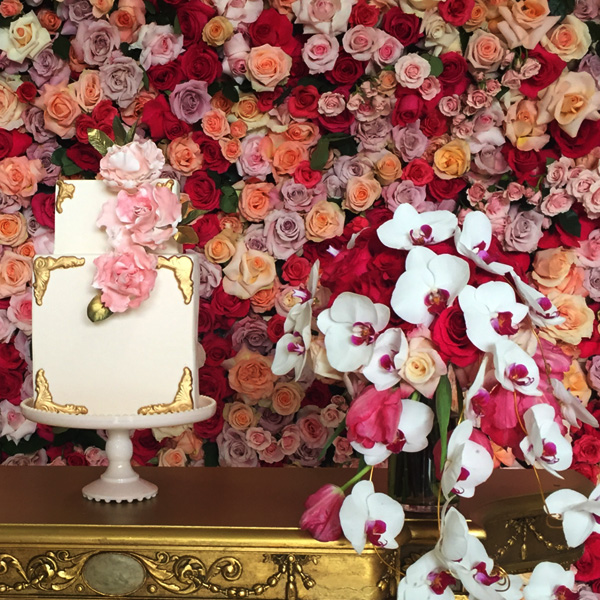 Bee Inspired Events - Wall of thousands roses